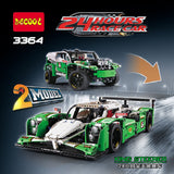 DECOOL 3364 24 hours Race Car 2 in 1 - Your World of Building Blocks