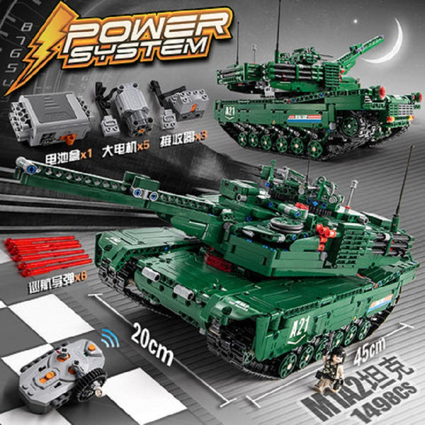 CADA C61001 M1A2 RC Tank 2 Models in 1 - Your World of Building Blocks
