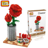 LOZ 9022 Crystal Rose I LOVE U - Your World of Building Blocks