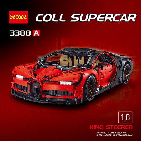 DECOOL 3388 A/B/C The Bugatti Chiron - Your World of Building Blocks