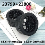 DIY 23800 / 23799 Technic Wheel Black Rims 4pcs - Your World of Building Blocks