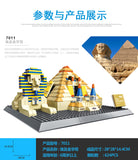 WANGE Building Series No.7011 The Pyramids of Egypt Set Building Blocks Bricks Toys Model - Your World of Building Blocks