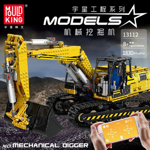 Mould King 13112 RC Excavator - Your World of Building Blocks