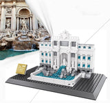 WANGE Building Series No.7014 The Wishing Pool Of Rome Set Building Blocks Bricks Toys Model - Your World of Building Blocks