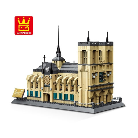 WANGE Building Series No.5210 The Notre-Dame de Paris Set Building Blocks Bricks Toys Model - Your World of Building Blocks