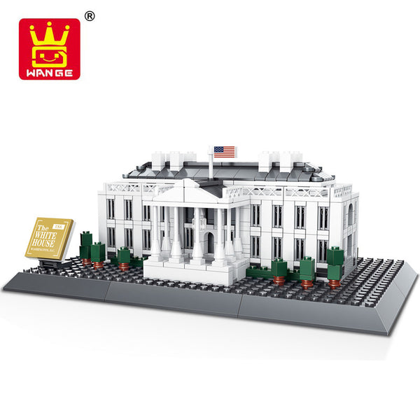 WANGE Building Series No.7018 The White House Of American Set Building Blocks Bricks Toys Model - Your World of Building Blocks