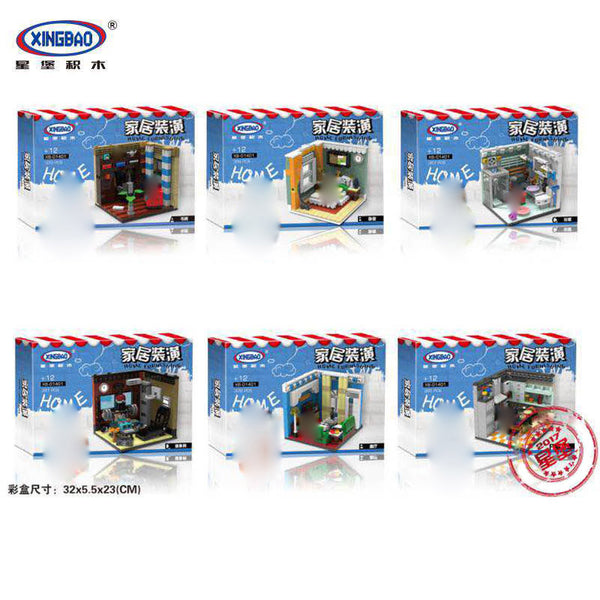 XINGBAO City Series XB-01401 The Living House Set 6 in 1 Building Blocks Bricks Toys Model - Your World of Building Blocks