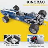 XINGBAO Dream Car Series XB-03022 The Blue Racing Car Set Building Blocks Bricks Toys Model - Your World of Building Blocks