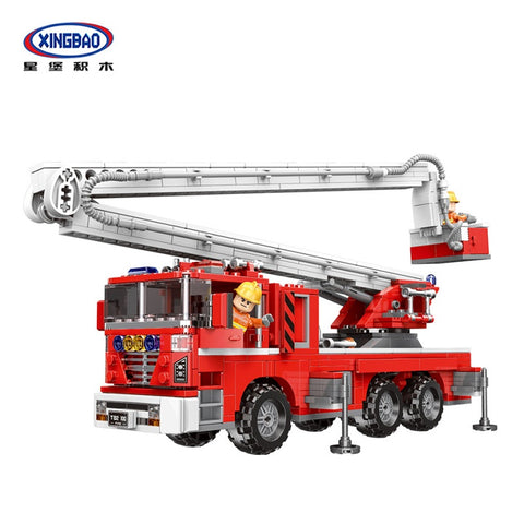 XINGBAO XB-03029 The Elevating Fire Truck - Your World of Building Blocks