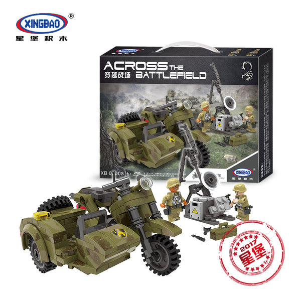 XINGBAO Military Series XB-06008 The Leaning Motorcycle Set Building Blocks Bricks Toys Model - Your World of Building Blocks