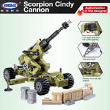 XINGBAO Military Series XB-06011 The Scorpion Cindy Cannon Set Building Blocks Bricks Toys Model - Your World of Building Blocks