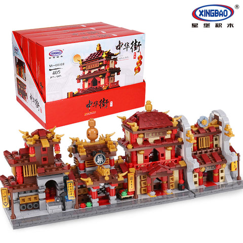 XINGBAO XB-01101 he China Inn Jewelry Shop Blacksmith Shop Drugstore Set 4 in 1 - Your World of Building Blocks