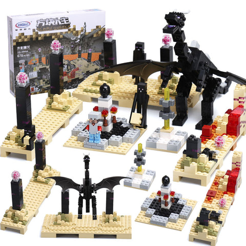 XINGBAO Minecraft Series XB-09004 The Black Dragon Set Building Blocks Bricks Toys - Your World of Building Blocks