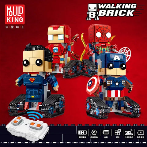Mould King 13038-13041 The Movable Robots - Your World of Building Blocks