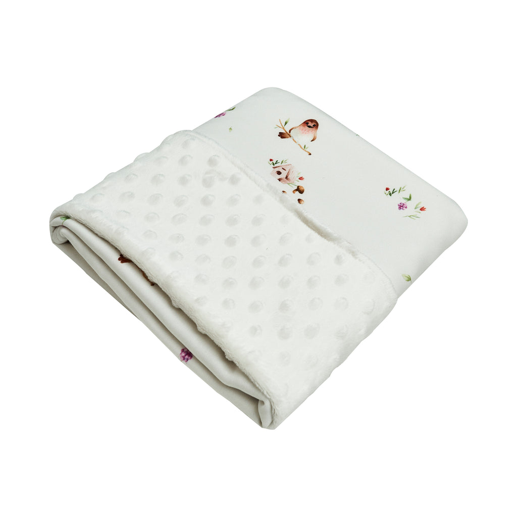 Cottonseeds Blanket Woodland Bird