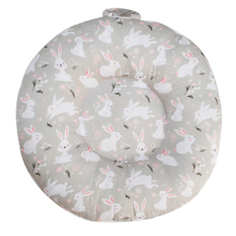 Cottonseeds Doughnut Floor Pillow White Rabbit