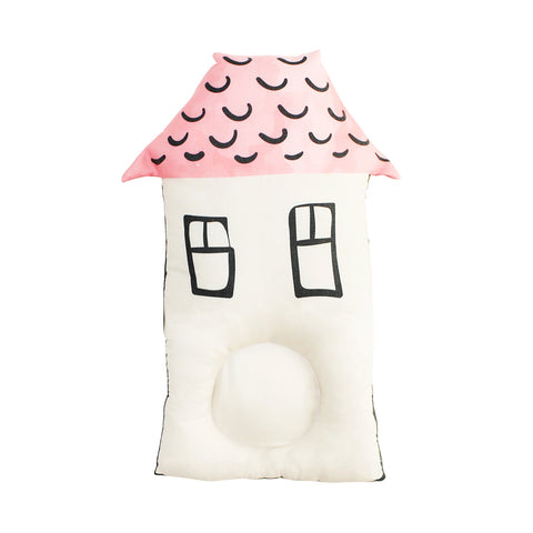 Cottonseeds Head Pillow Little House Pink