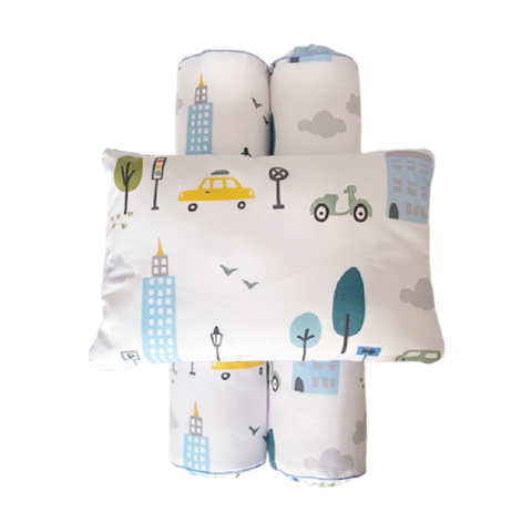 Cottonseeds Pillow Bolster City Cars