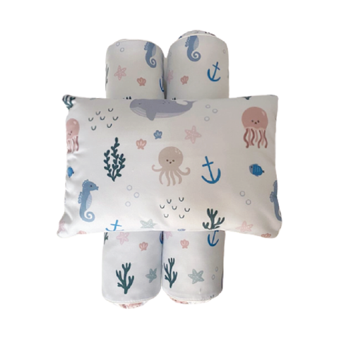 Cottonseeds Pillow Bolster Sea Animals