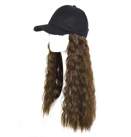 Baseball Wig - Light Brown Waves 26""