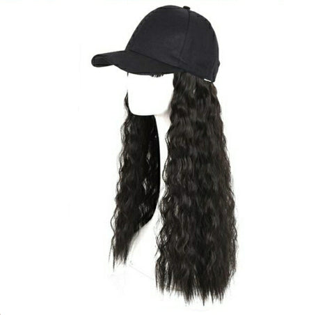 Baseball Wig - Black Waves 26""
