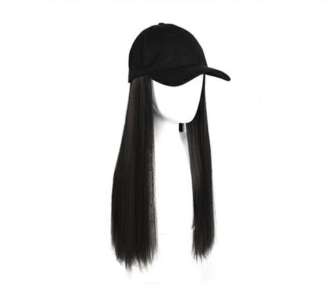 Baseball Wig - Black Straight 26""