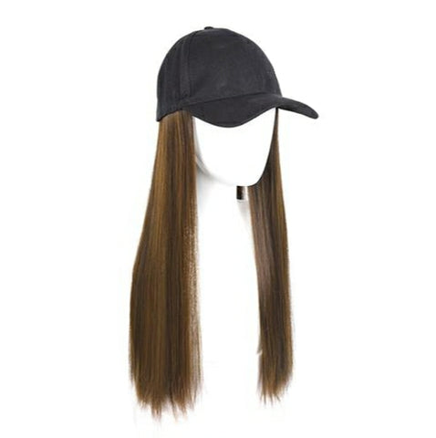 Baseball Wig - Light Brown Straight 26""