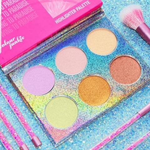 Glowing To Paradise Highlight and Bronzer Palette - Colour Junkie Cosmetics