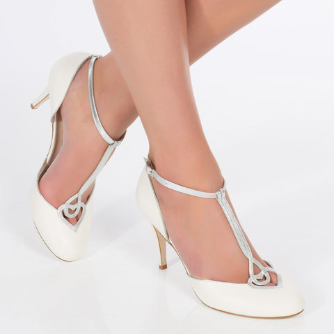 close toe bridal shoe charlotte mills silver