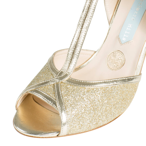 modelo peep toe oro betty zapatos de novia