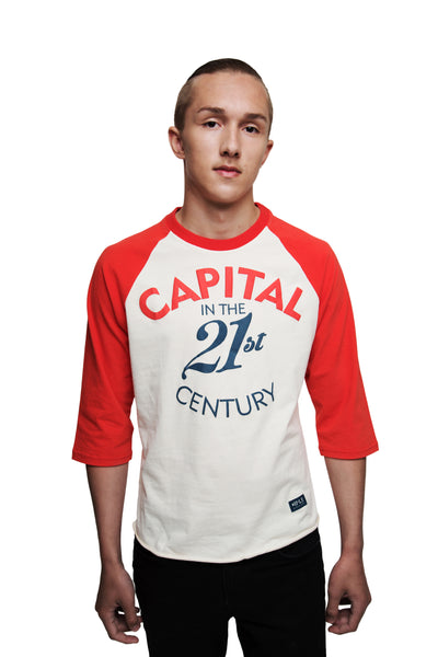 3/4 sleeved shirt 'Capital in the 21st Century' - Diiple.com