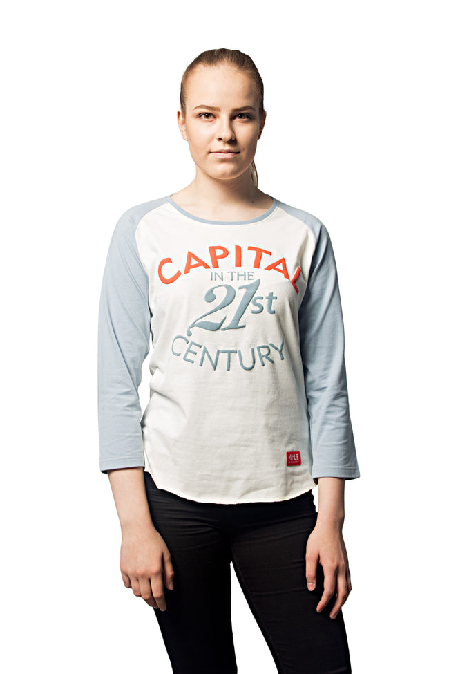 3/4 sleeved t-shirt 'Capital in the 21st Century'