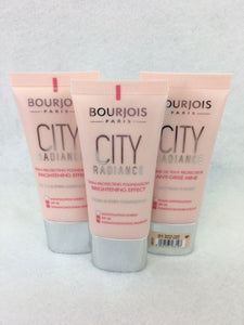 Bourjois City Radiance Skin Protecting Foundation, 01 Rose Ivory x 3 (£3.95 each)