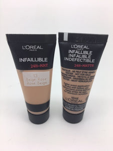 L'oreal Infallible 24h Matte Foundation, 13 Rose Beige, MINI TESTER, 10ml x 100 (£0.30 each)