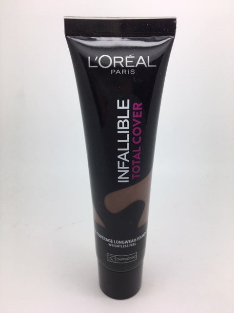L'oreal Infallible Total Cover Foundation, 33 Cappucino x 6 (£3.00 each)