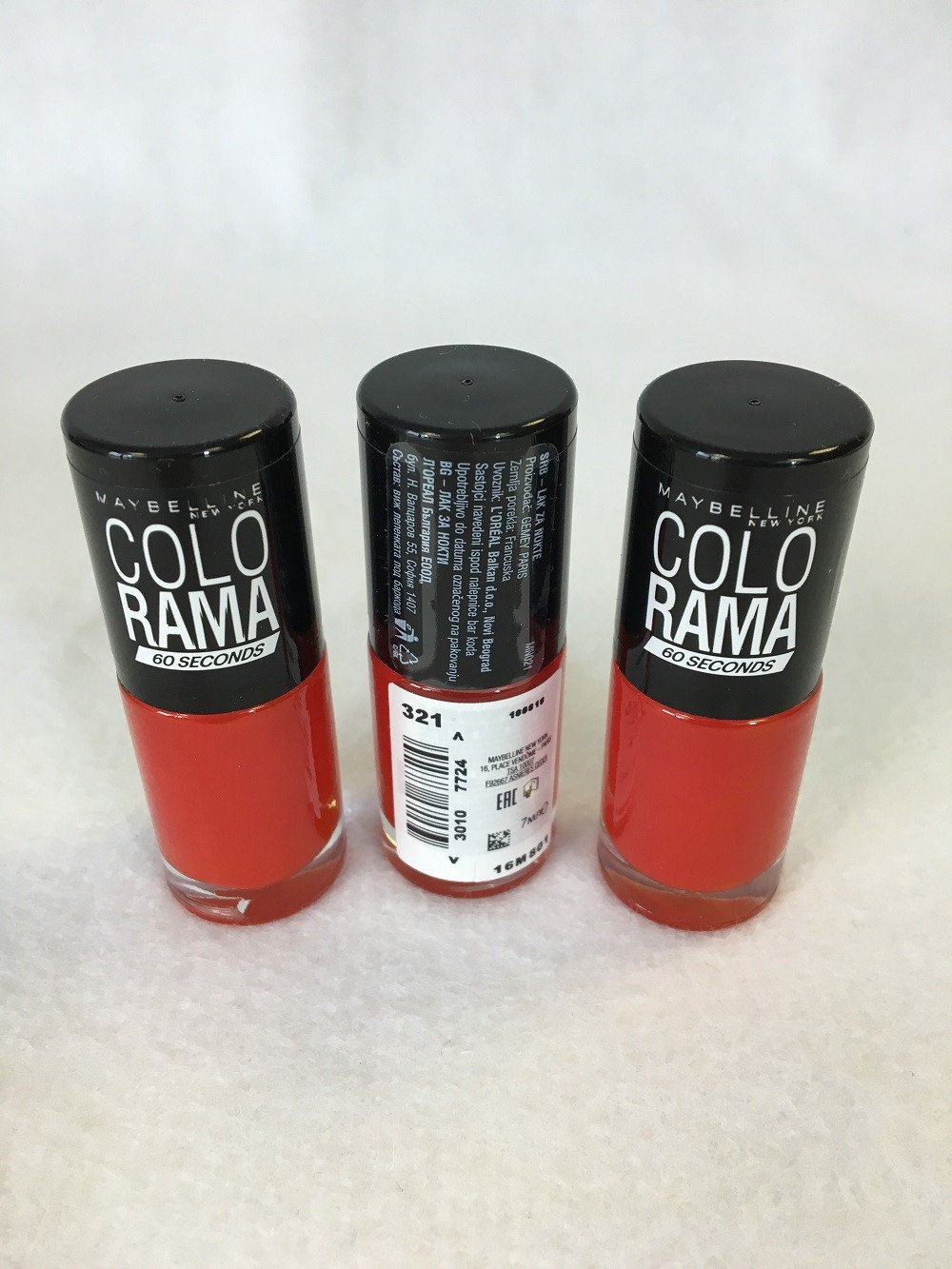 Maybelline Colorama 60 Seconds Nail Polish. 321 Tangy x 12 (£0.40 each) - Fizzy Peach Ltd