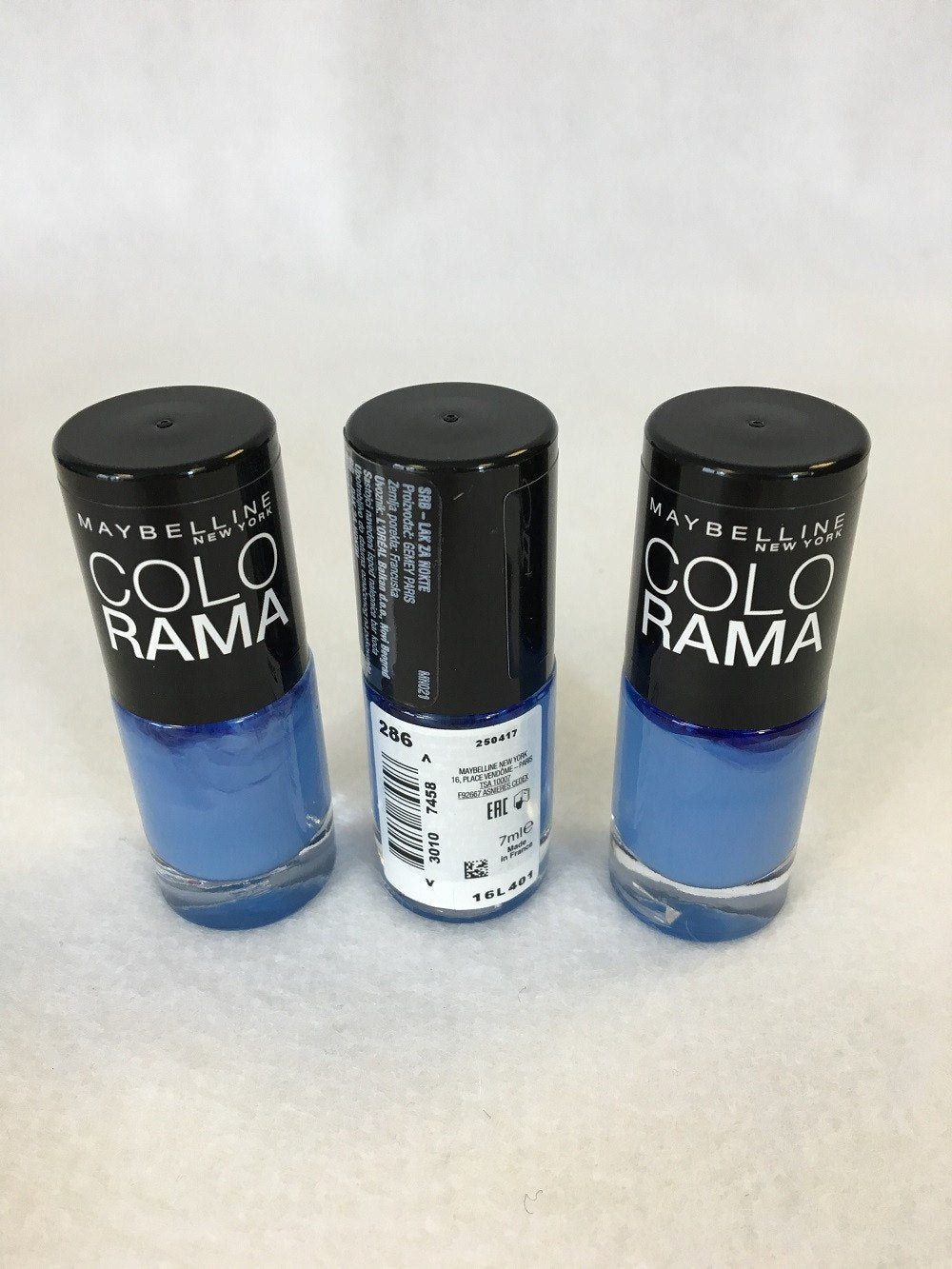 Maybelline Colorama Nail Polish. 286 Maybe Blue x 12 (£0.40 each) - Fizzy Peach Ltd