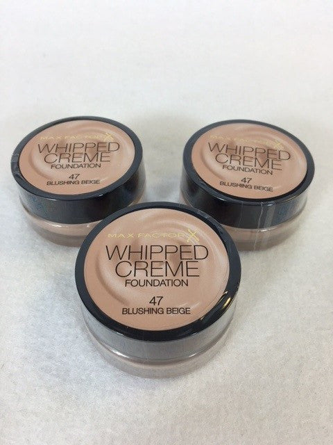 Max Factor Whipped Creme Foundation, 47 Blushing Beige x 6 (£2.65 each) - Fizzy Peach Ltd