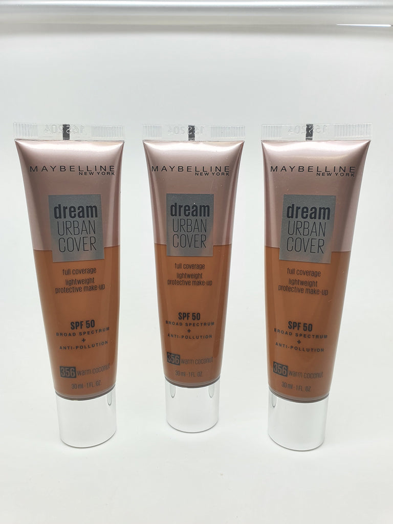 *Clearance* Maybelline Dream Urban Cover Foundation, 356 Warm Coconut x 48 (£1.95 each)