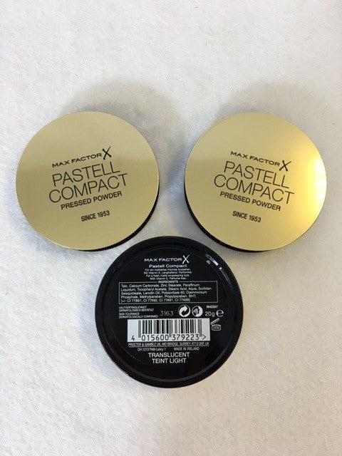 Max Factor Pastell Compact Pressed Powder, Translucent x 6 (£2.45 each) - Fizzy Peach Ltd