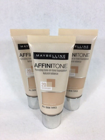 Maybelline Affinitone Foundation 20 Golden Rose x 12 (£2.25 each)