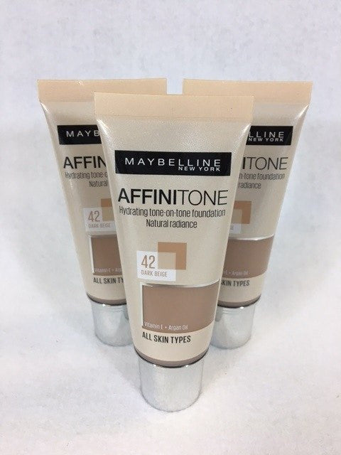 Maybelline Affinitone Foundation 42 Dark beige x 12 (£2.25 each) - Fizzy Peach Ltd
