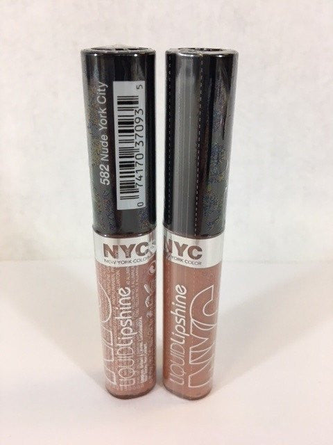 NYC Liquid Lipshine Lip Gloss, 582 Nude York City x 6 (£0.35 each) - Fizzy Peach Ltd