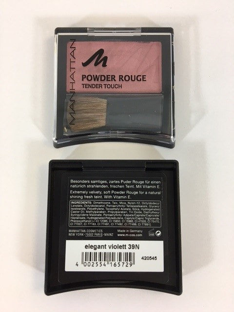 Manhattan Powder Rouge Tender Touch Blush, Elegant Violet 39N x 6 (£0.50 each) - Fizzy Peach Ltd