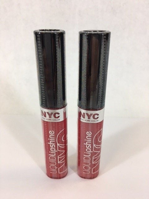 NYC Liquid Lipshine Lip Gloss, 589 Rockefeller Red x 6 (£0.35 each) - Fizzy Peach Ltd