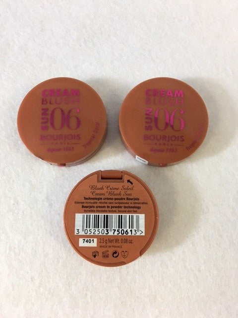 Bourjois Cream Blush Sun 06 Tropical Coral x 6 (£2.25 each) - Fizzy Peach Ltd