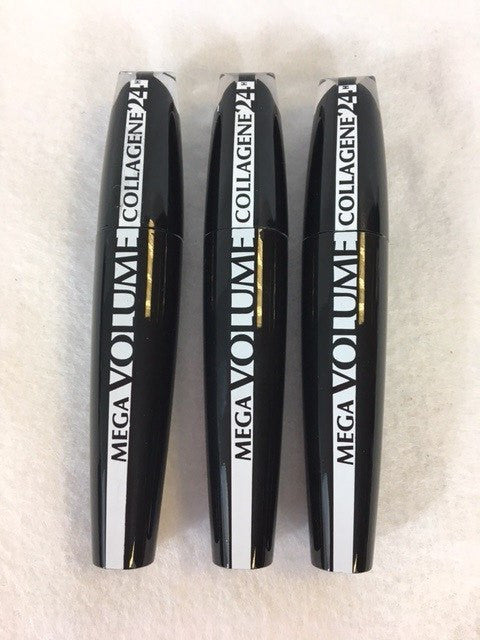 L'oreal Mega Volume Collagene 24H Mascara, Extra Black x 6 (£2.40 each) - Fizzy Peach Ltd
