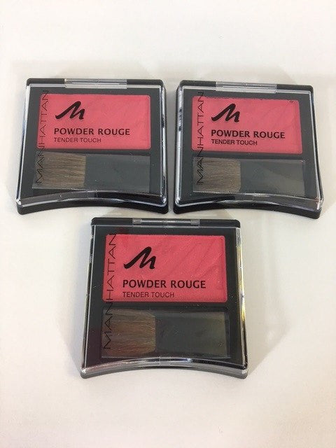Manhattan Powder Rouge Tender Touch Blush, Pink Hunter 55H x 6 (£0.50 each) - Fizzy Peach Ltd