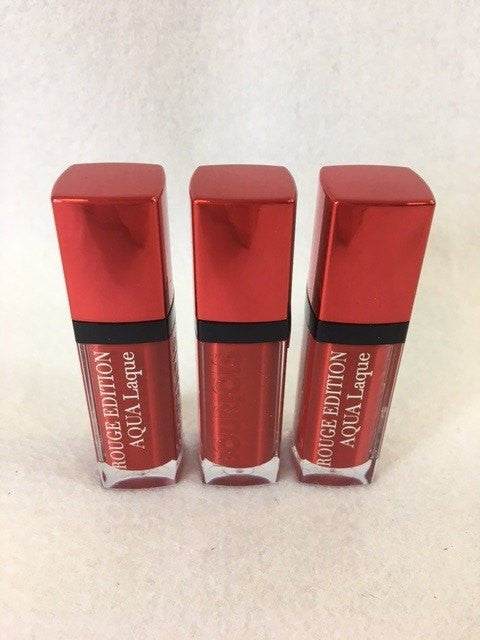 Bourjois Rouge Edition Aqua Laque Lipstick, 06 Feeling Reddy x 6 (£2.00 each) - Fizzy Peach Ltd