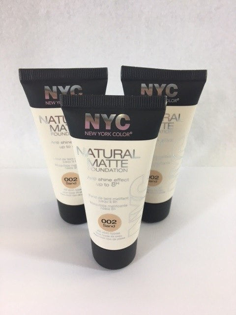NYC Natural Matte Foundation, 002 Sand x 6 (£1.00 each) - Fizzy Peach Ltd